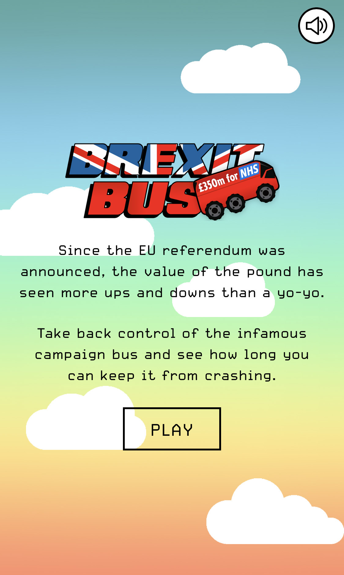 Ride the Brexit Bus and see how long you can keep it going from crashing