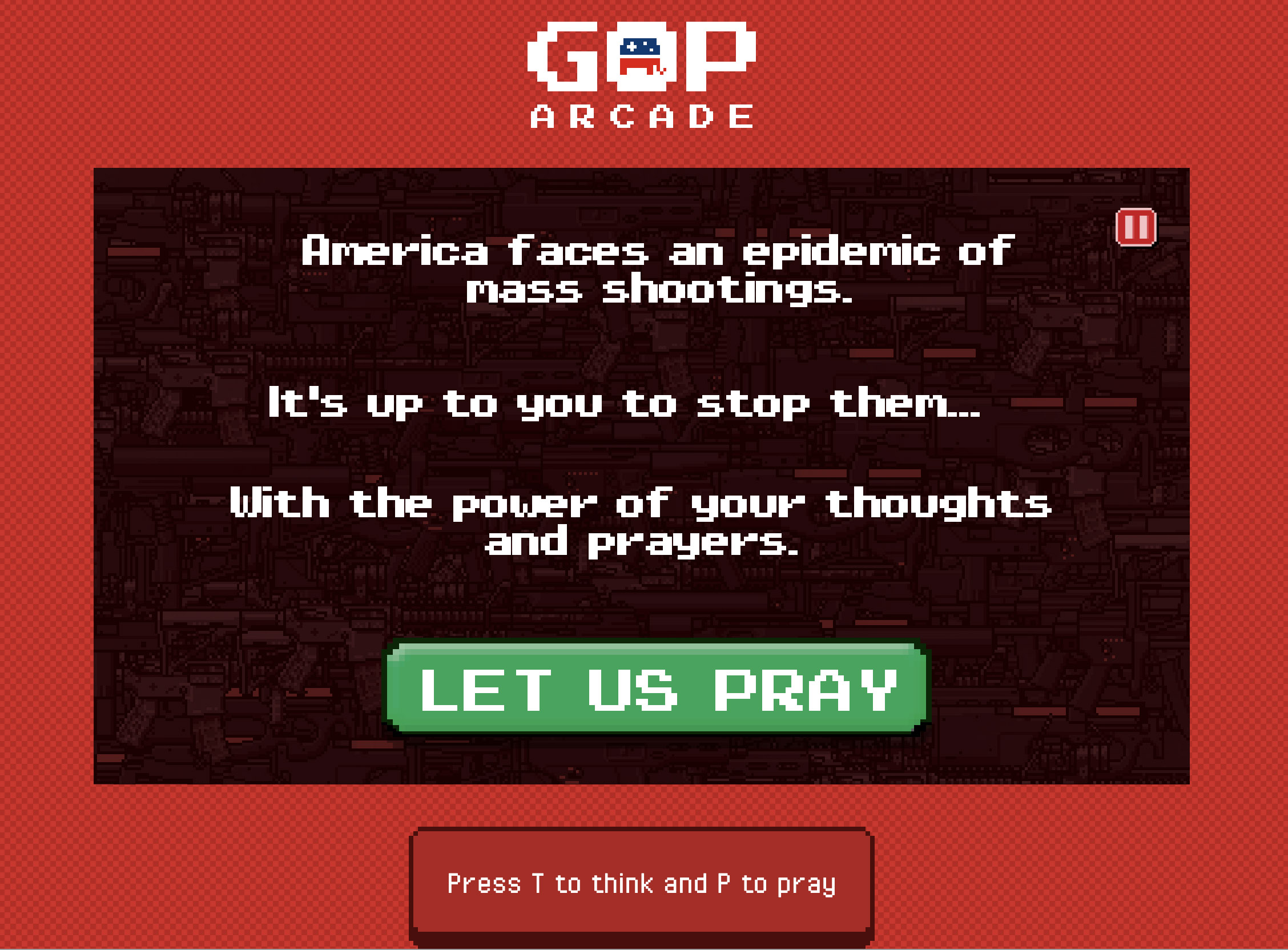 Stop mass shootings with thoughts & prayers