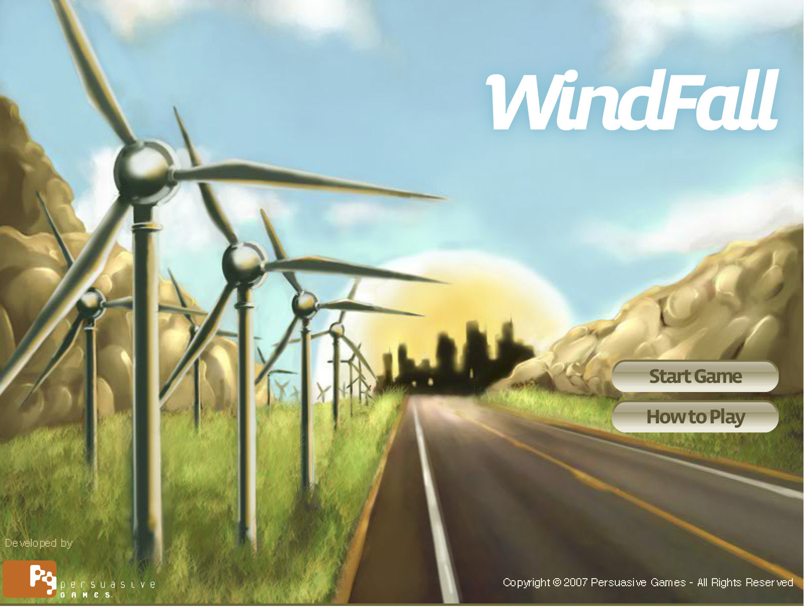 Build wind generated power farm and harvest clean energy